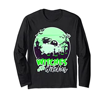 4be343c2 Image Unavailable. Image not available for. Color: Witches With Hitches  Halloween Camping T-Shirt ...