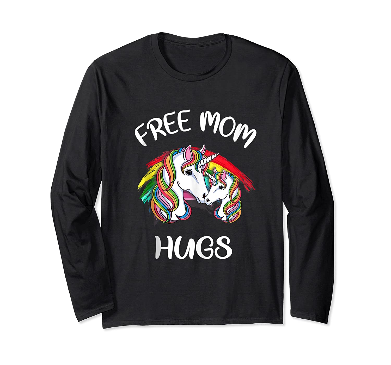 Free Mom Hugs Rainbow Gray Pride Lgbt Funny Tank Top Shirts Long Sleeve T-shirt