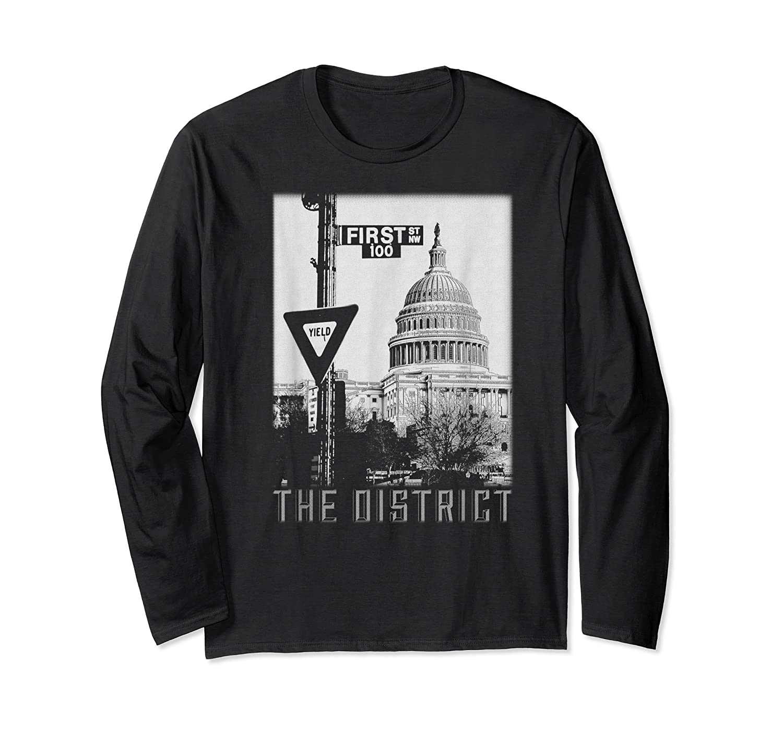 Vintage Washington Dc District Of Columbia T Shirt Long Sleeve T-shirt