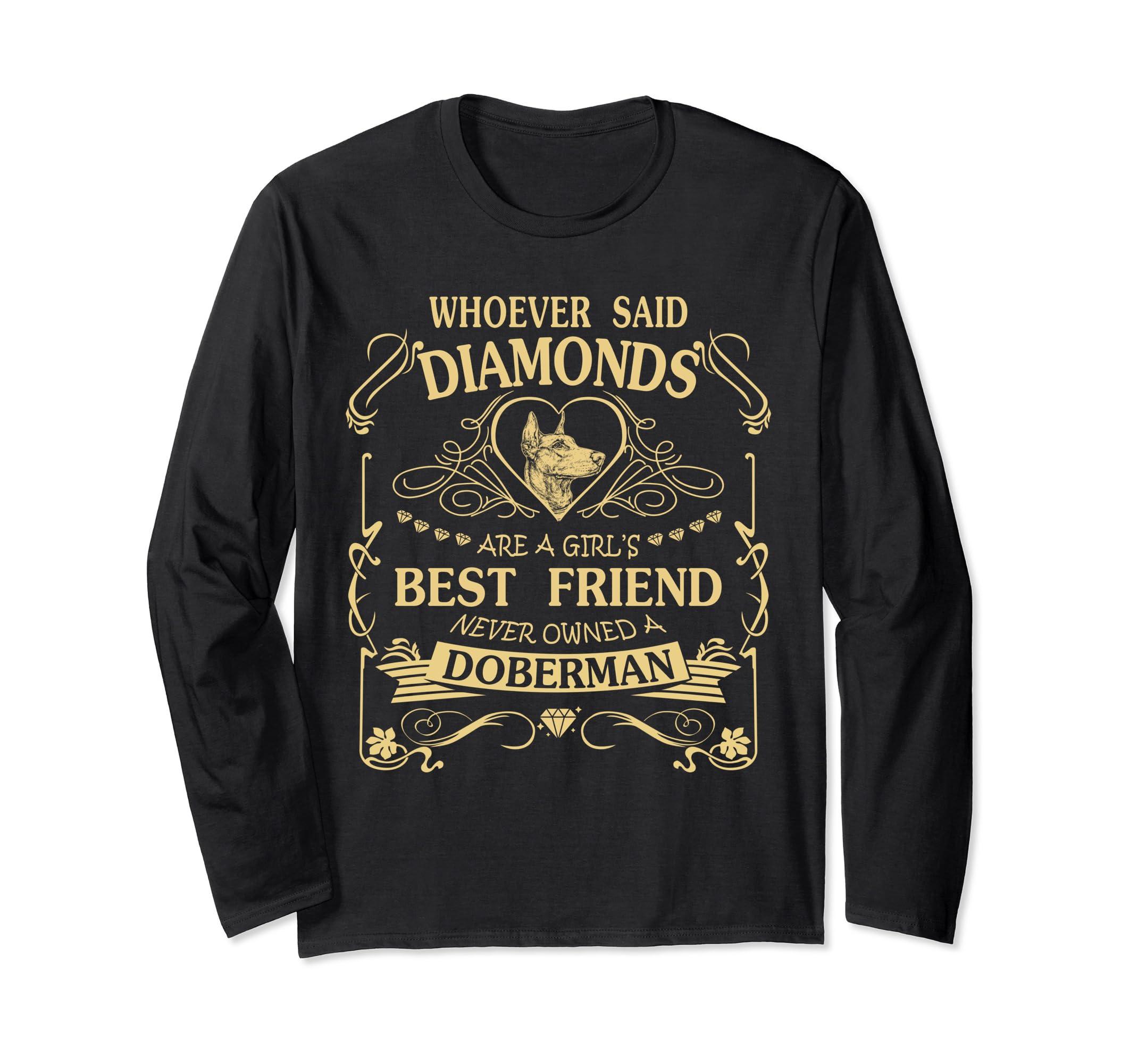 I love my Doberman than diamond Cute Gift Shirt-mt