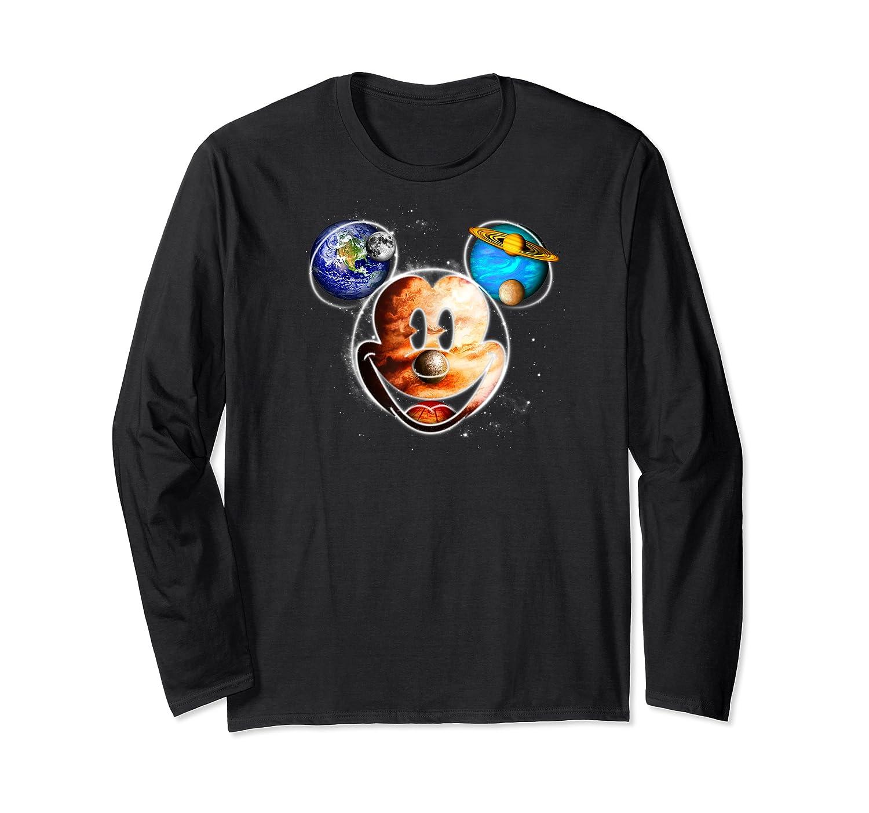 Disney Mckey Mouse Universe T Shirt Long Sleeve T-shirt
