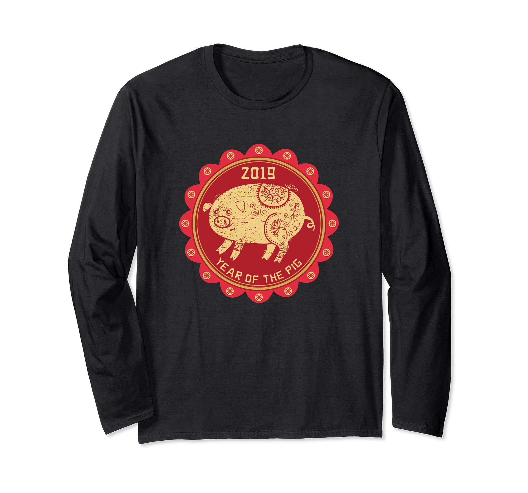 Year of the Pig Shirt   Chinese New Year Long Sleeve T shirt-ln