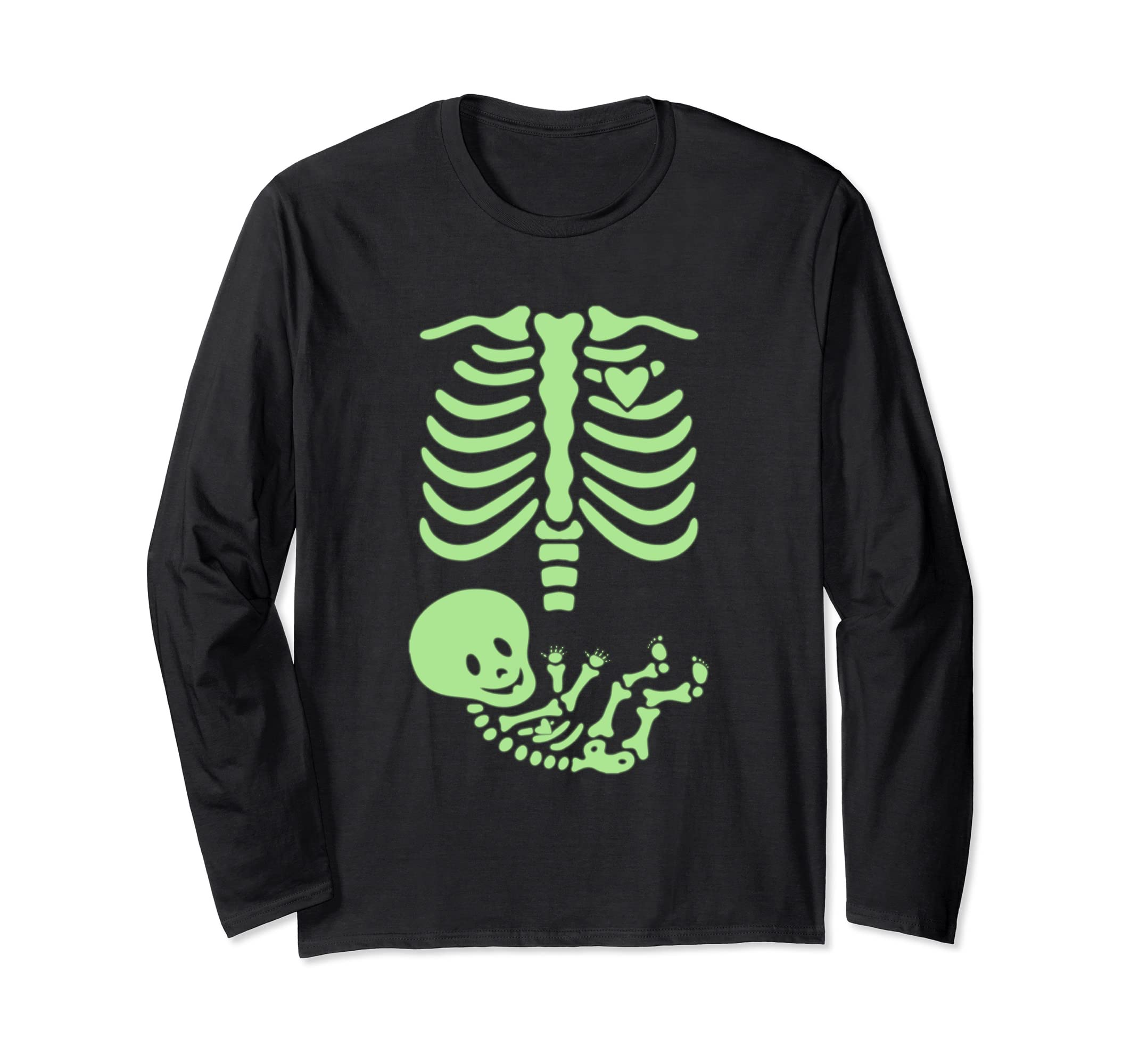 X-Ray Skeleton Pregnant Halloween Mom Costume Green Lighting-ANZ