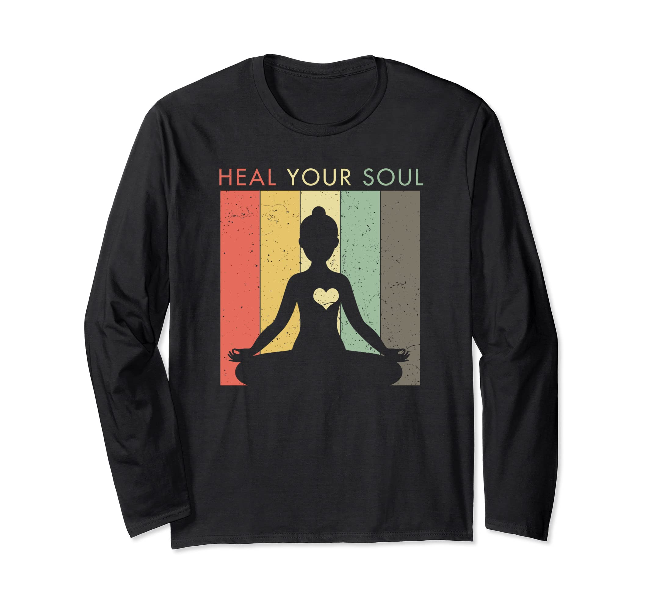 Amazon.com: Distressed Yoga Shirt - Heal Your Soul Long ...