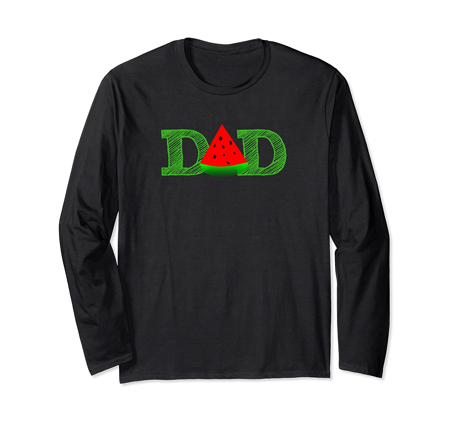 Dad Watermelon Funny Summer Melon Fruit Father Daddy Day T-shirt