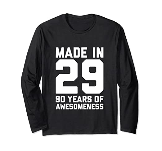 Image Unavailable Not Available For Color 90th Birthday Long Sleeve Women Men 90 Year Old Grandma Gift