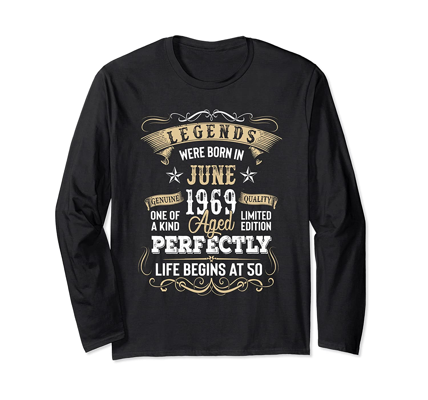Legends Were Born In June 1969 50th Birthday Gift Shirts