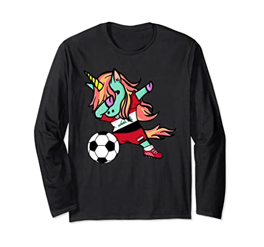 Image Unavailable. Image not available for. Color  Unicorn Dabbing Iraq  Soccer Jersey ... d050903fc