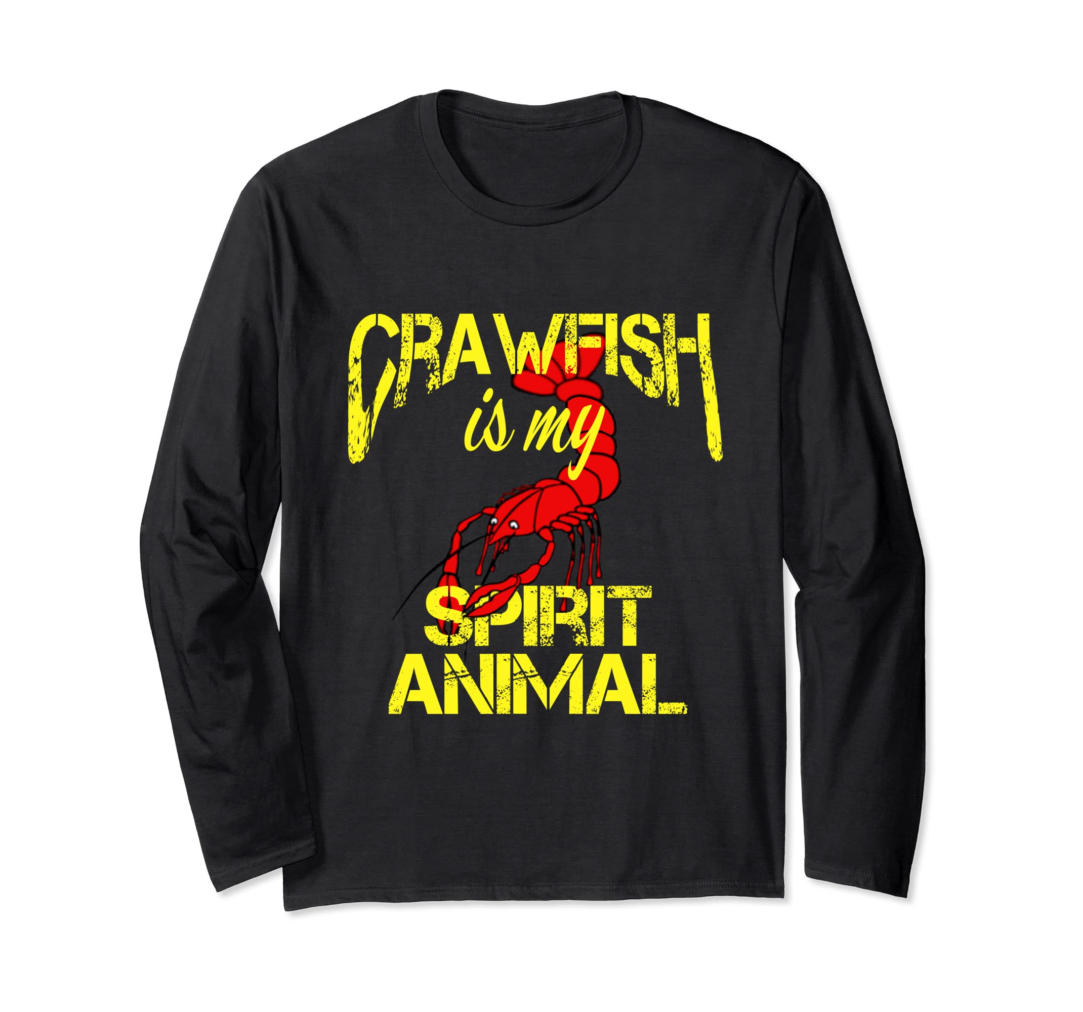 5739087e9e Amazon.com: Funny Crawfish is My Spirit Animal Louisiana Cajun Texas Tee:  Clothing