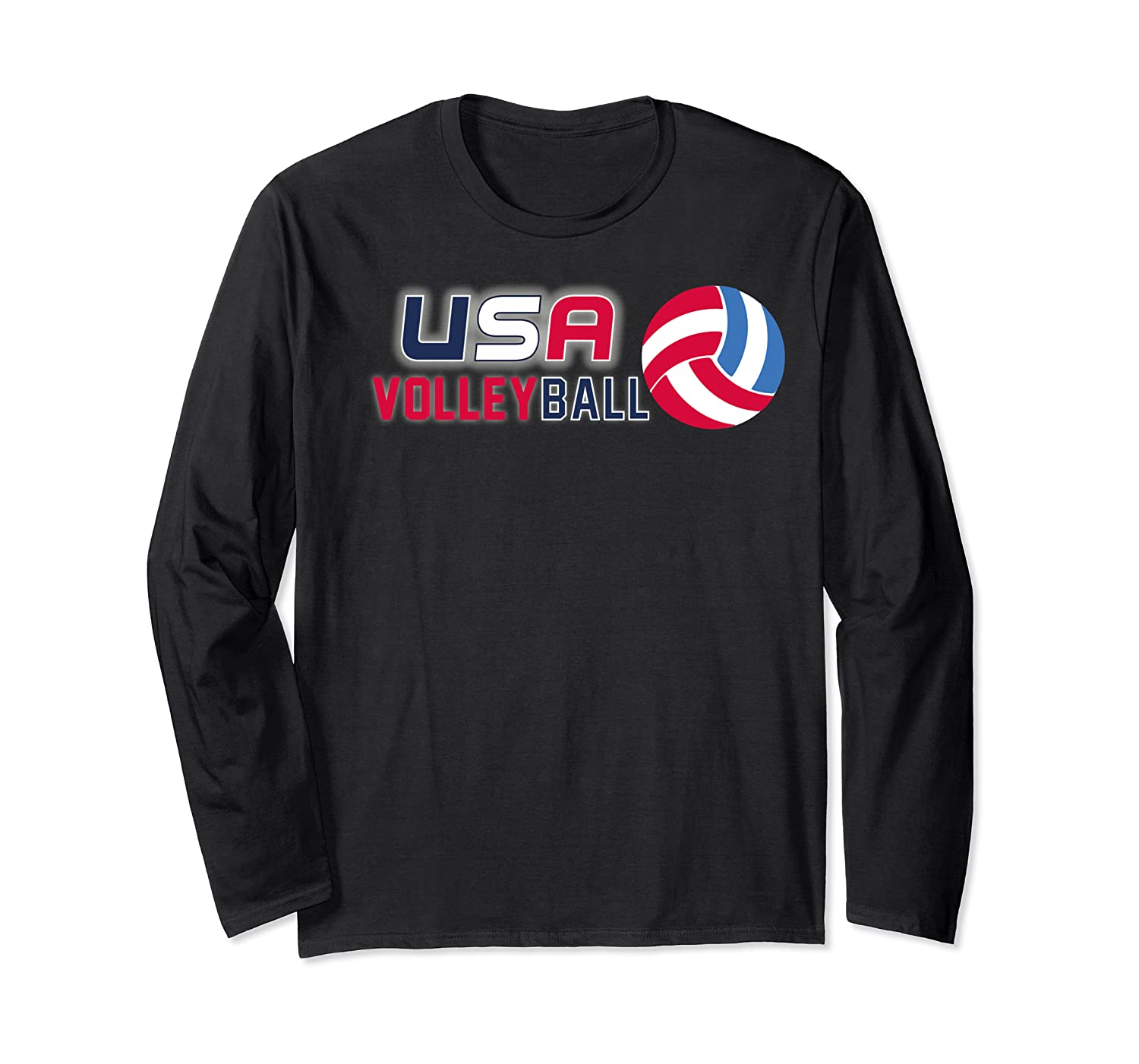 Usa And Volleyball For Athletes Shirts Long Sleeve T-shirt