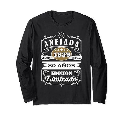 Amazon.com: Camisa Mujer Cumpleanos 80 - 1939 80 Anos ...