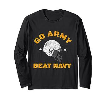 a55201a82 Amazon.com: Go Army Beat Navy America's Game Football Long Sleeve ...