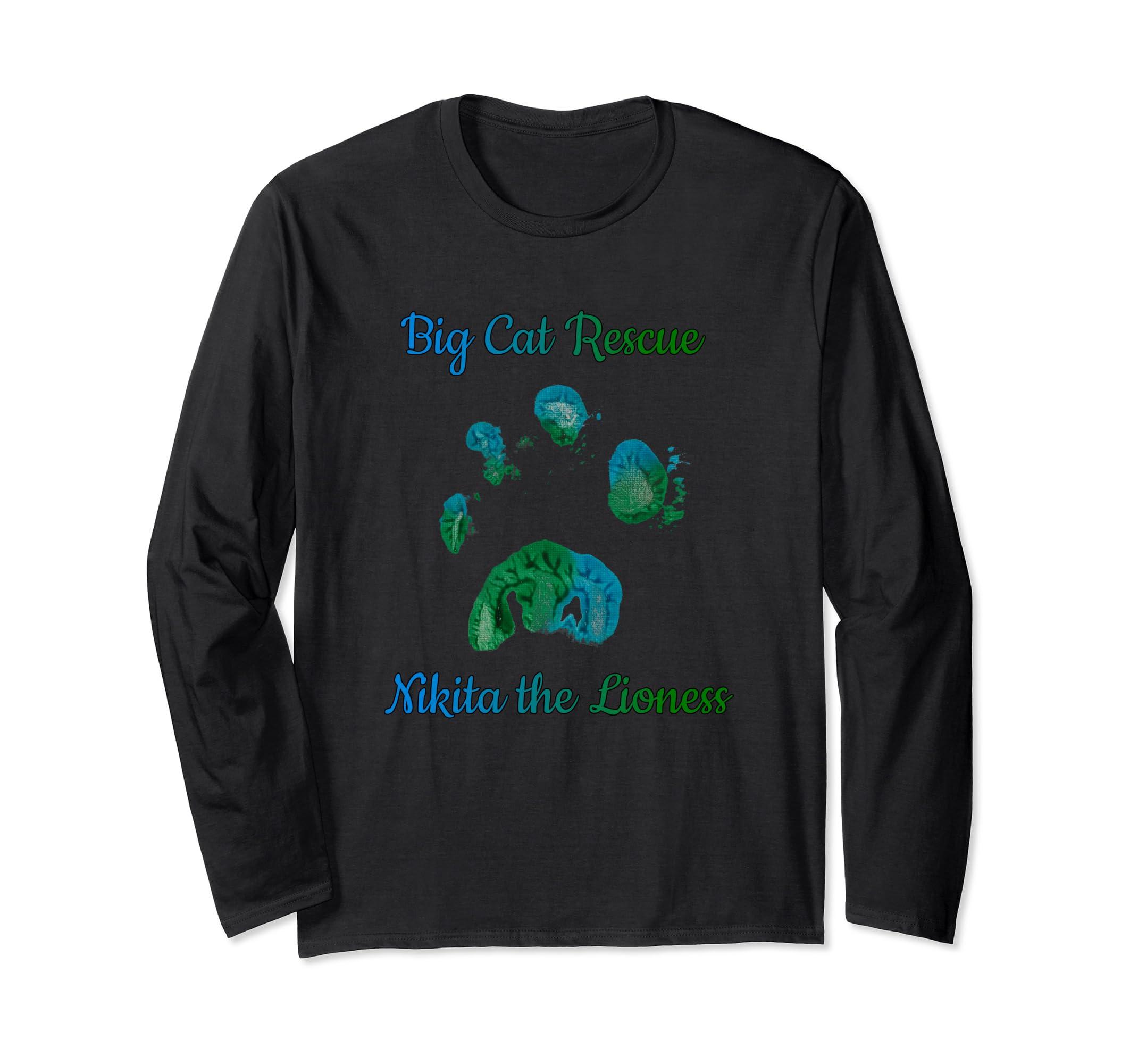 Amazon com: BCR Nikita Lioness Paw Print Long Sleeve T-Shirt