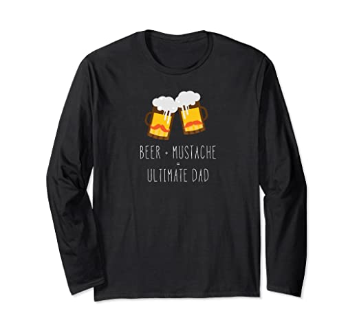 ceb121c9 Image Unavailable. Image not available for. Color: Father's Day Beer  Mustache Ultimate Dad Beer T-Shirt T Gift