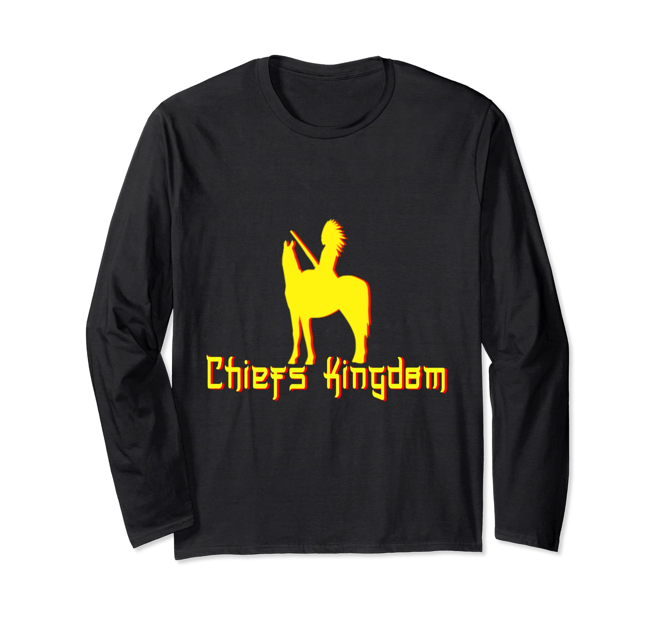 check out 16648 8951d Amazon.com: Chiefs Kingdom Native KC Football Long-sleeve T ...