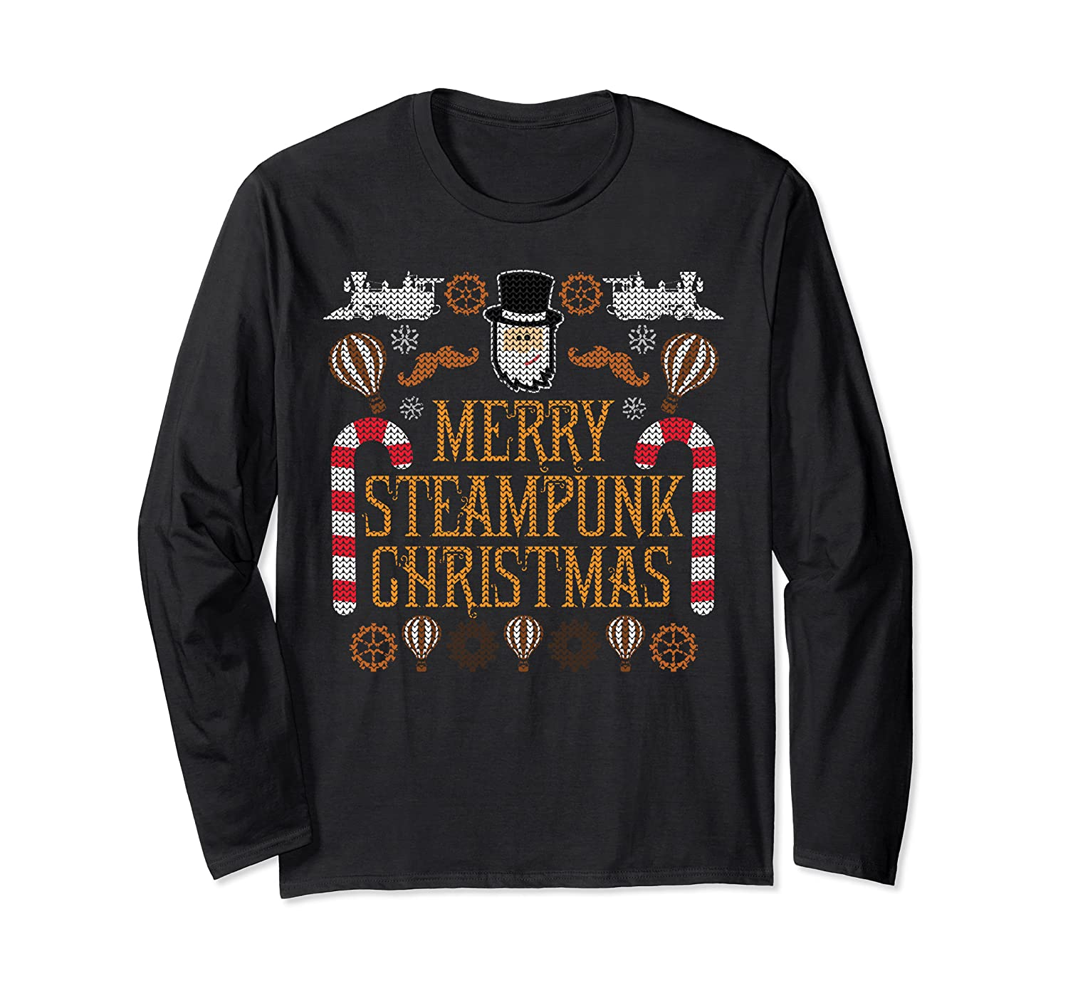 Merry Steampunk Christmas T-Shirt Ugly Christmas Sweater
