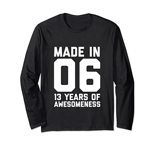 Image Unavailable Not Available For Color 13th Birthday Long Sleeve Girls 13 Year Old Daughter Gifts