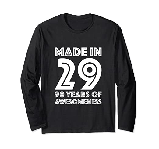 Image Unavailable Not Available For Color 90th Birthday Long Sleeve Men Gift 90 Year Old Grandpa Dad