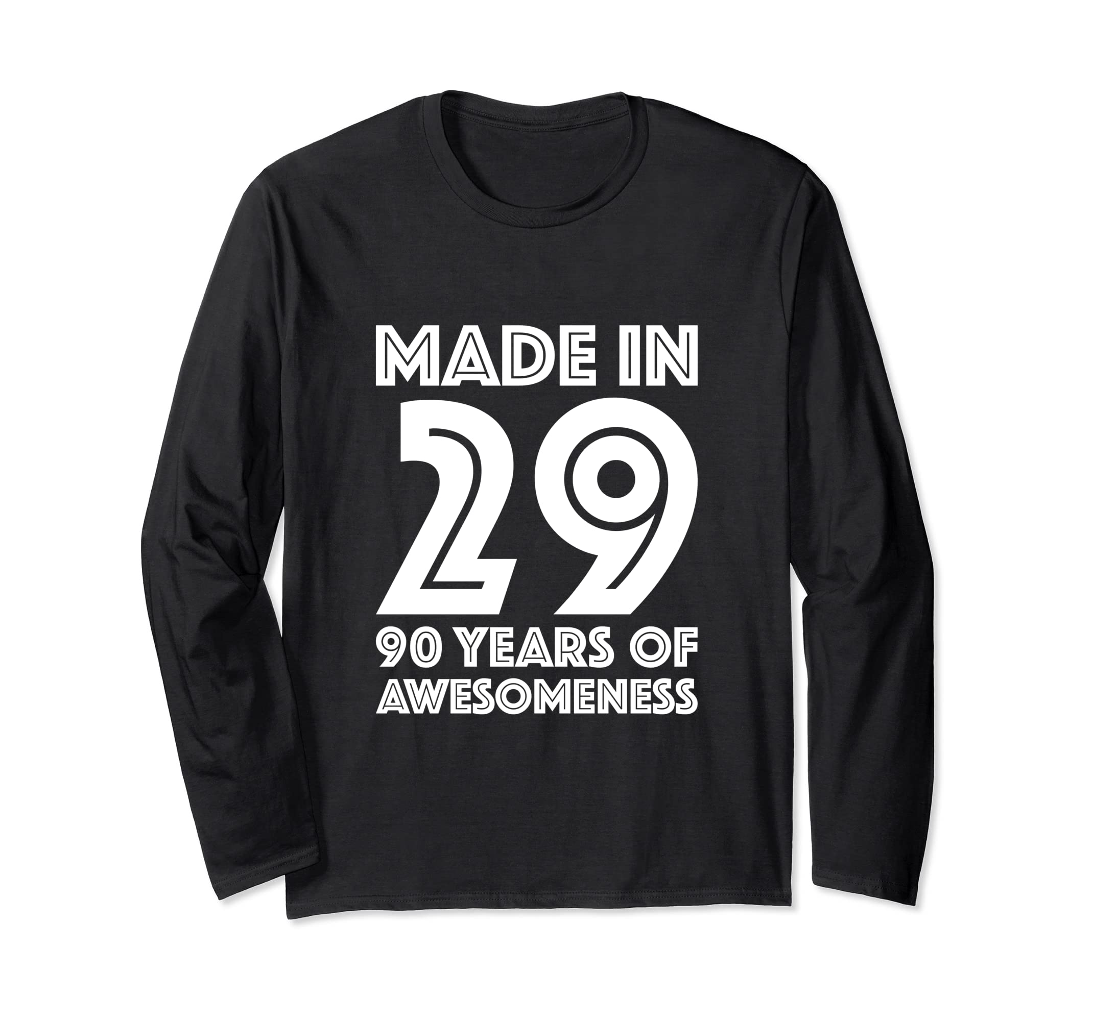 Amazon 90th Birthday Long Sleeve Men Gift 90 Year Old Grandpa Dad Clothing