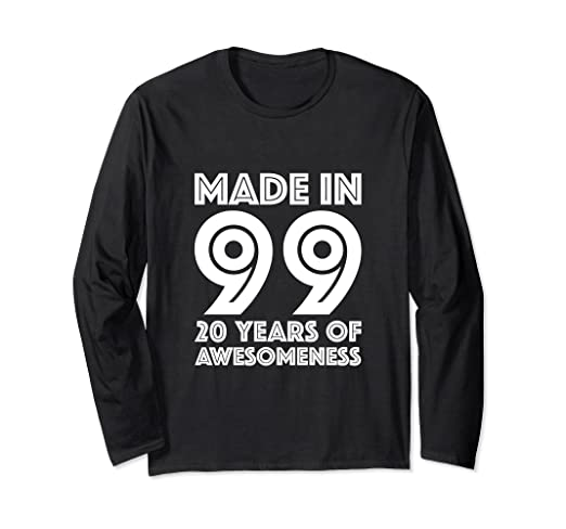 Image Unavailable Not Available For Color 20th Birthday Long Sleeve Shirt Boys Gifts 20 Year Old Son