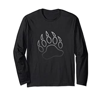 Amazon com: Daddy Bear Cub Paw Print Outline LGBT Long