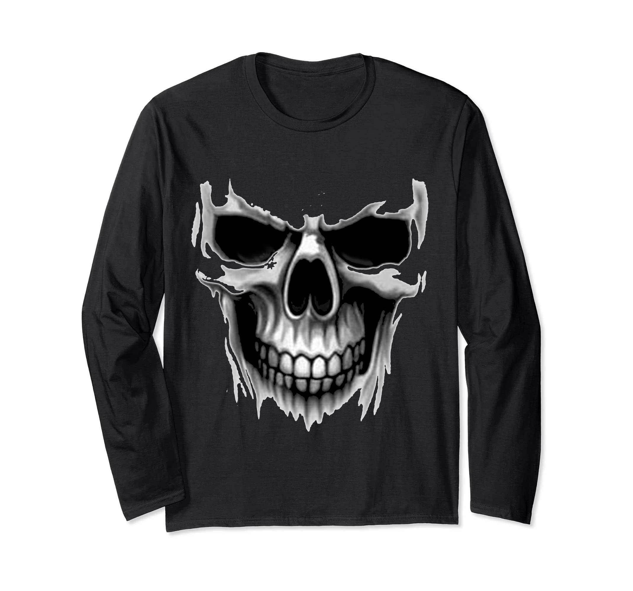 Amazon.com: CRANIUM DARK HORROR REAL SKULL BLACK DEAD MASK SLEEVE WINTER: Clothing