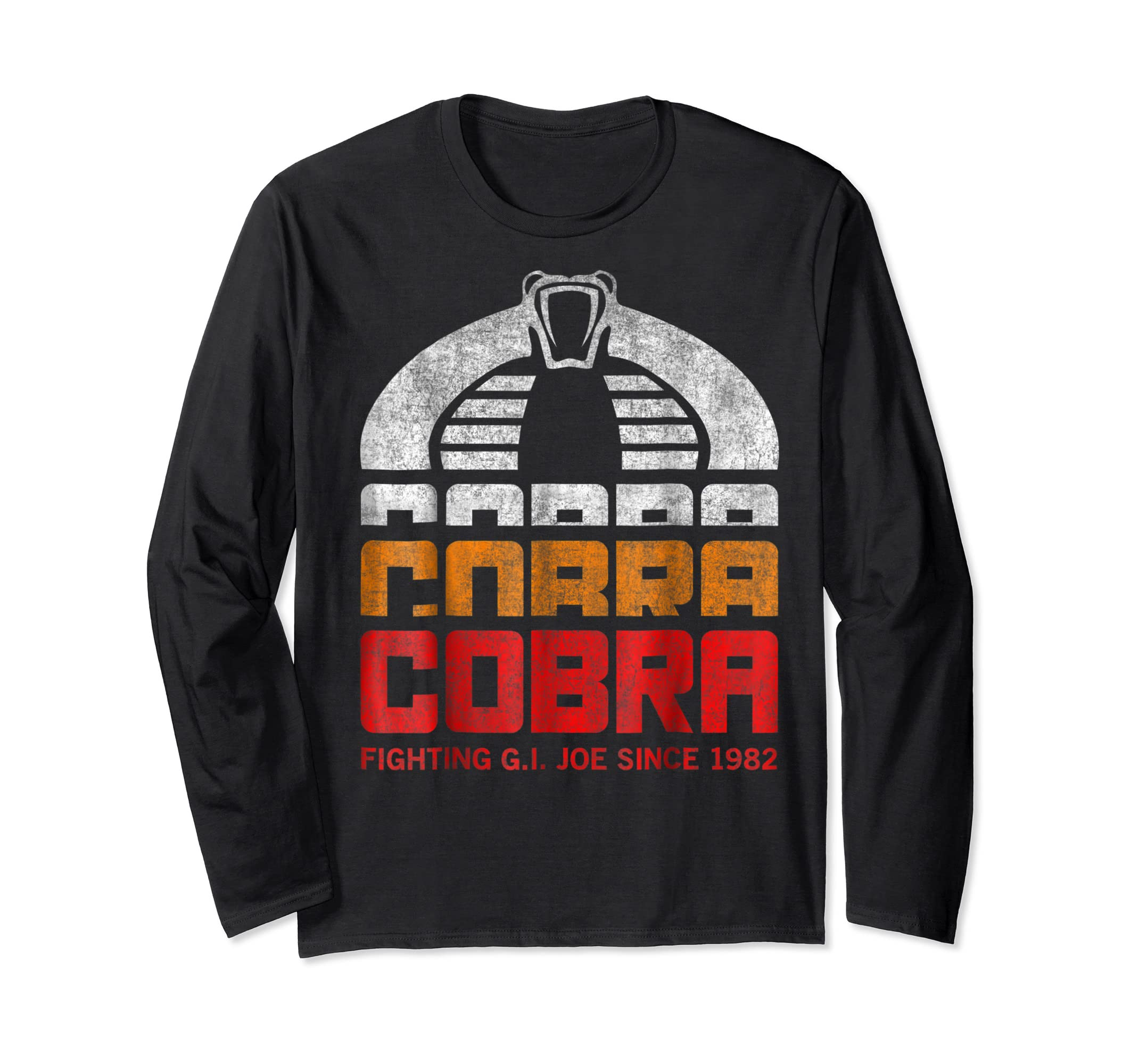 G.I. Joe Retro Cobra Fighting Since 1982 T-Shirt-Long Sleeve-Black
