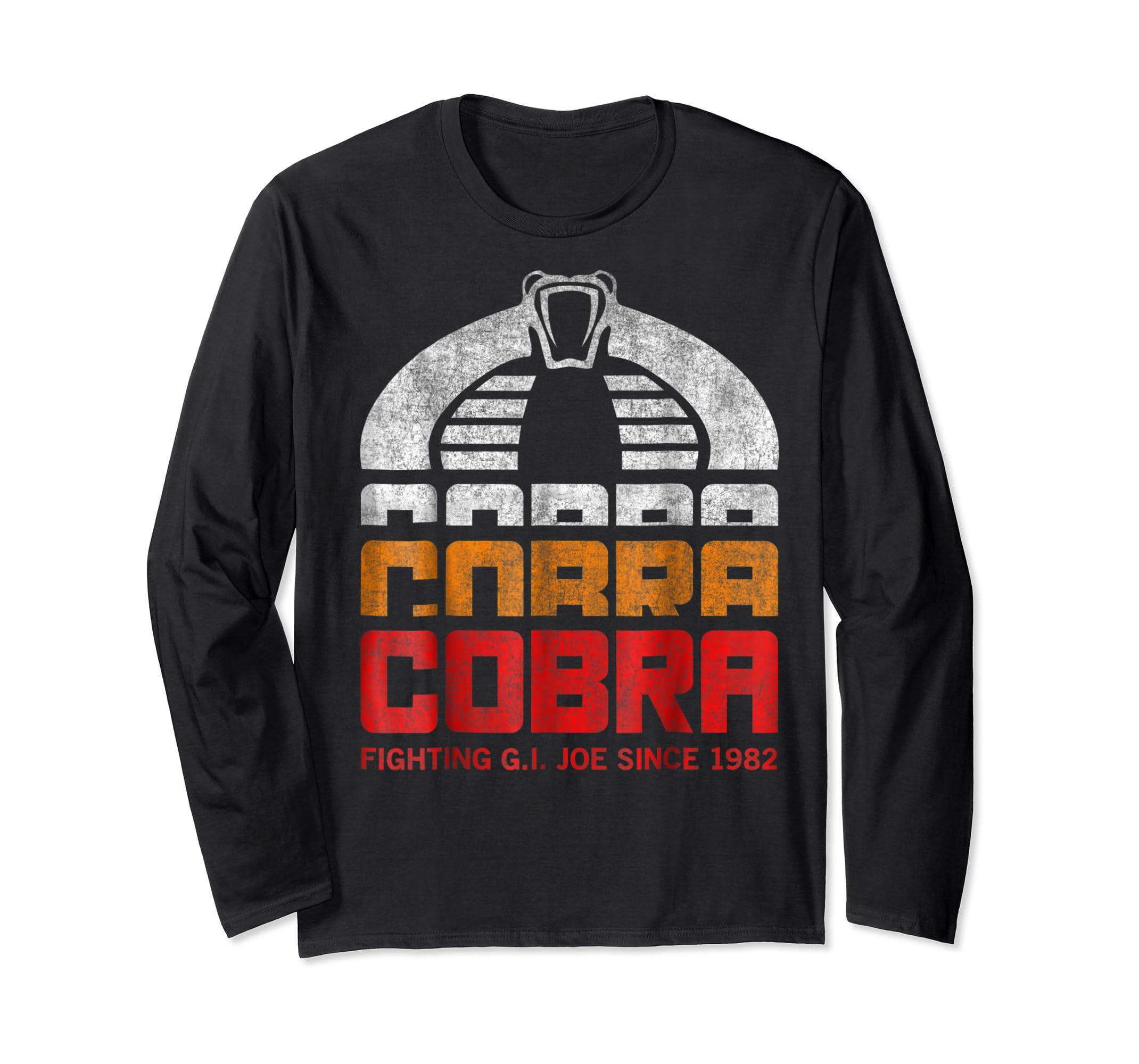 G.I. Joe Retro Cobra Fighting Since 1982 T-Shirt-Long Sleeve-Black