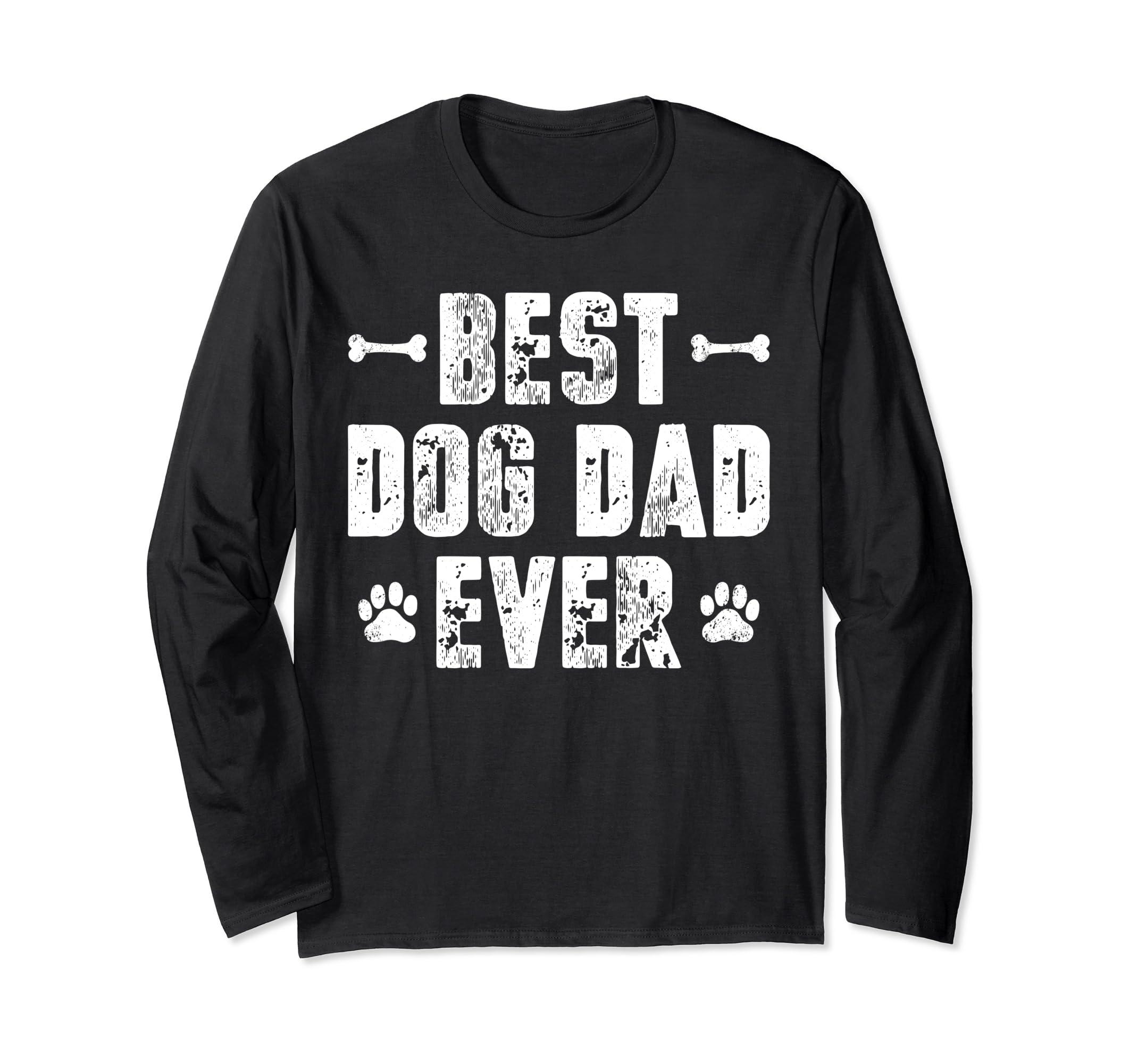 495094ab6 Amazon.com: Best Dog Dad Ever Shirt Dog Lover Mens Dog Shirt Gift: Clothing