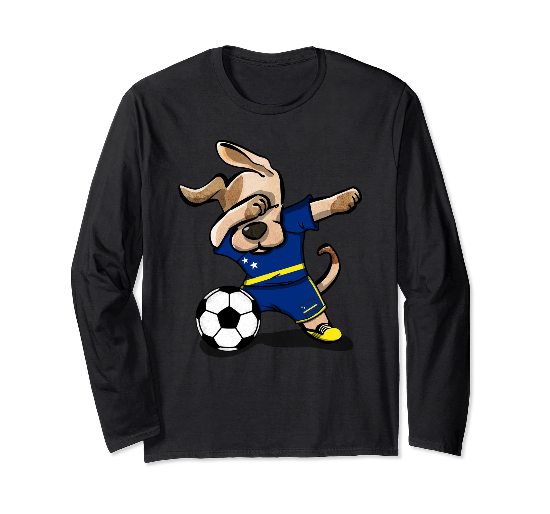 the best attitude 16099 f4826 Amazon.com: Dog Dabbing Curacao Soccer Jersey Shirt National ...