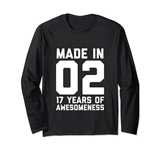 Image Unavailable Not Available For Color 17th Birthday Long Sleeve Girls 17 Year Old Daughter Gifts