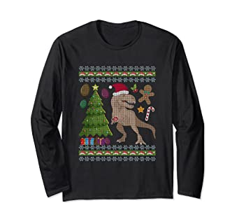 2bba8b70 Image Unavailable. Image not available for. Color: Ugly Christmas Sweater Dinosaur  Trex ...