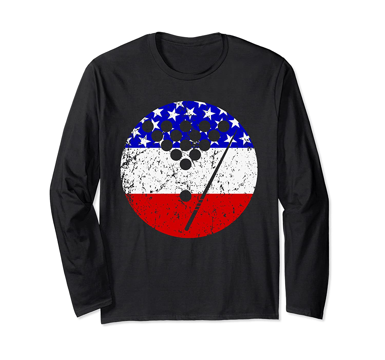 American Flag Billiards Vintage Retro Pool Shirts