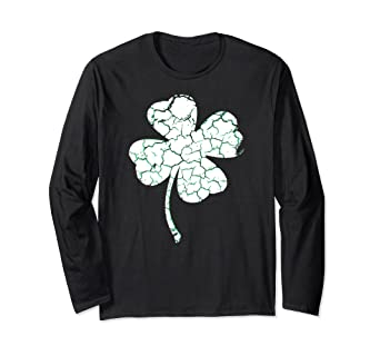 0d8ba944a Image Unavailable. Image not available for. Color: St Patricks Day Shirts-Long  Sleeve-Four Leaf Clover T Shirt