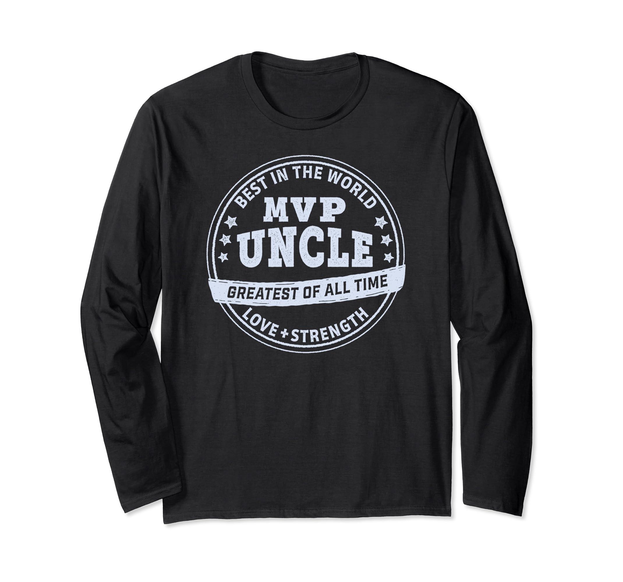 bf57a4095 Amazon.com: MVP Uncle GOAT Long Sleeve Shirt: Clothing