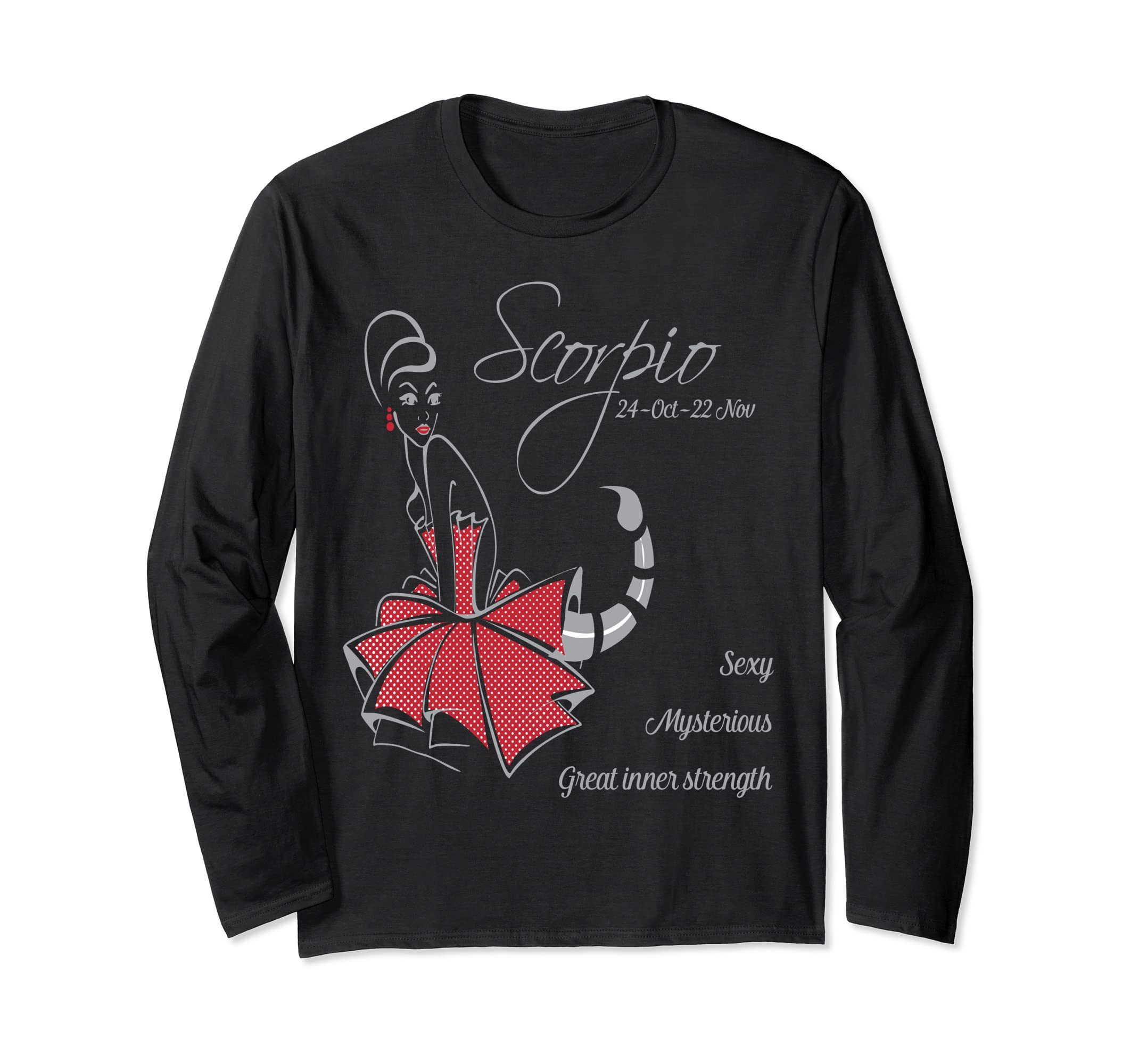 Amazon.com: Scorpio Beauty For Gift Long Sleeve: Clothing