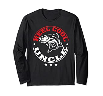 76d1452f Image Unavailable. Image not available for. Color: Reel Cool Uncle Fishing  Father's Day Long Sleeve T-Shirt