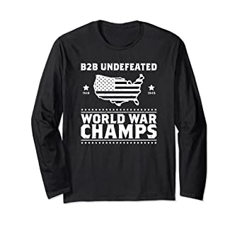 5f904276 Image Unavailable. Image not available for. Color: Back To Back Undefeated  World War Champs ...