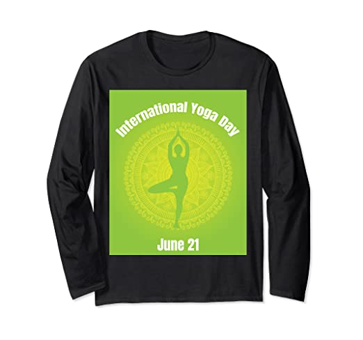 Amazon.com: International yoga day June 21 Yoga Shirt ...