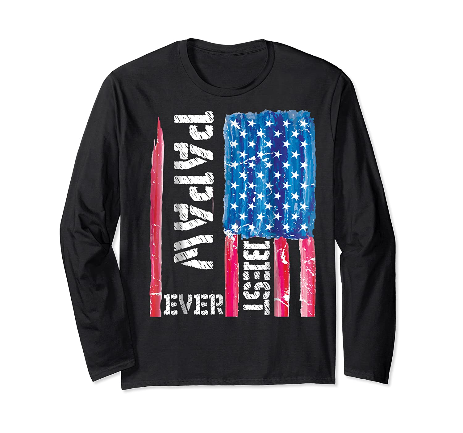Best Papaw Ever Distressed American Flag For Dad Shirts Long Sleeve T-shirt