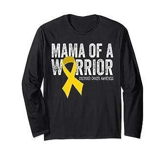 a823a65d63b Amazon.com: Mama of a Warrior Childhood Cancer T Shirt Ribbon: Clothing