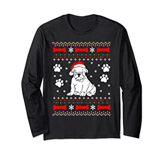 bulldog lover funny ugly christmas sweater gifts men women