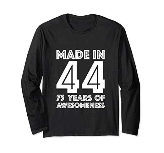 Amazon 75th Birthday Long Sleeve Shirt Grandpa 75 Year Old Dad Gift Clothing
