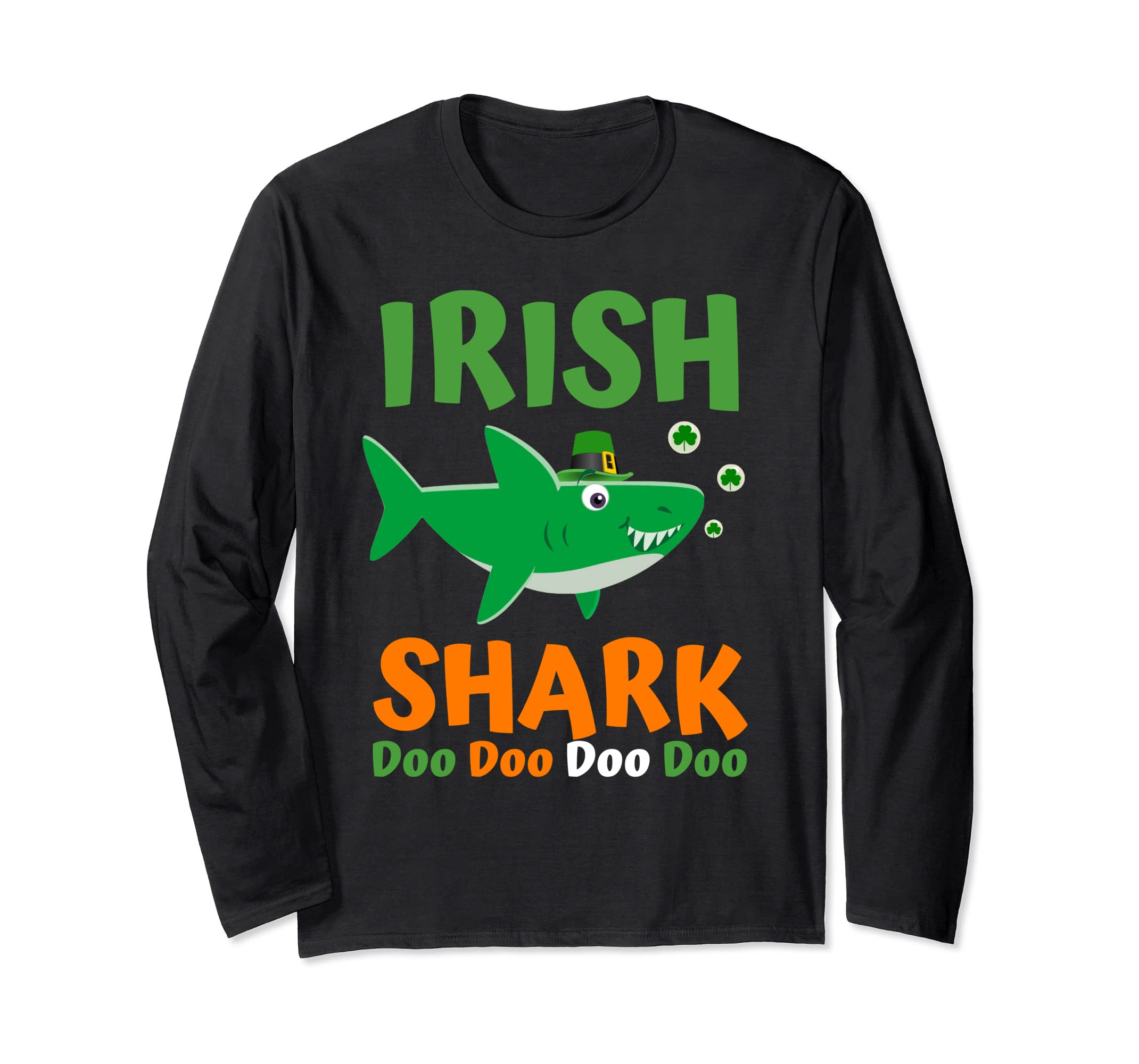 Irish Shark Long Sleeve Tee St Patricks Day Shirt Women Men-Teehay