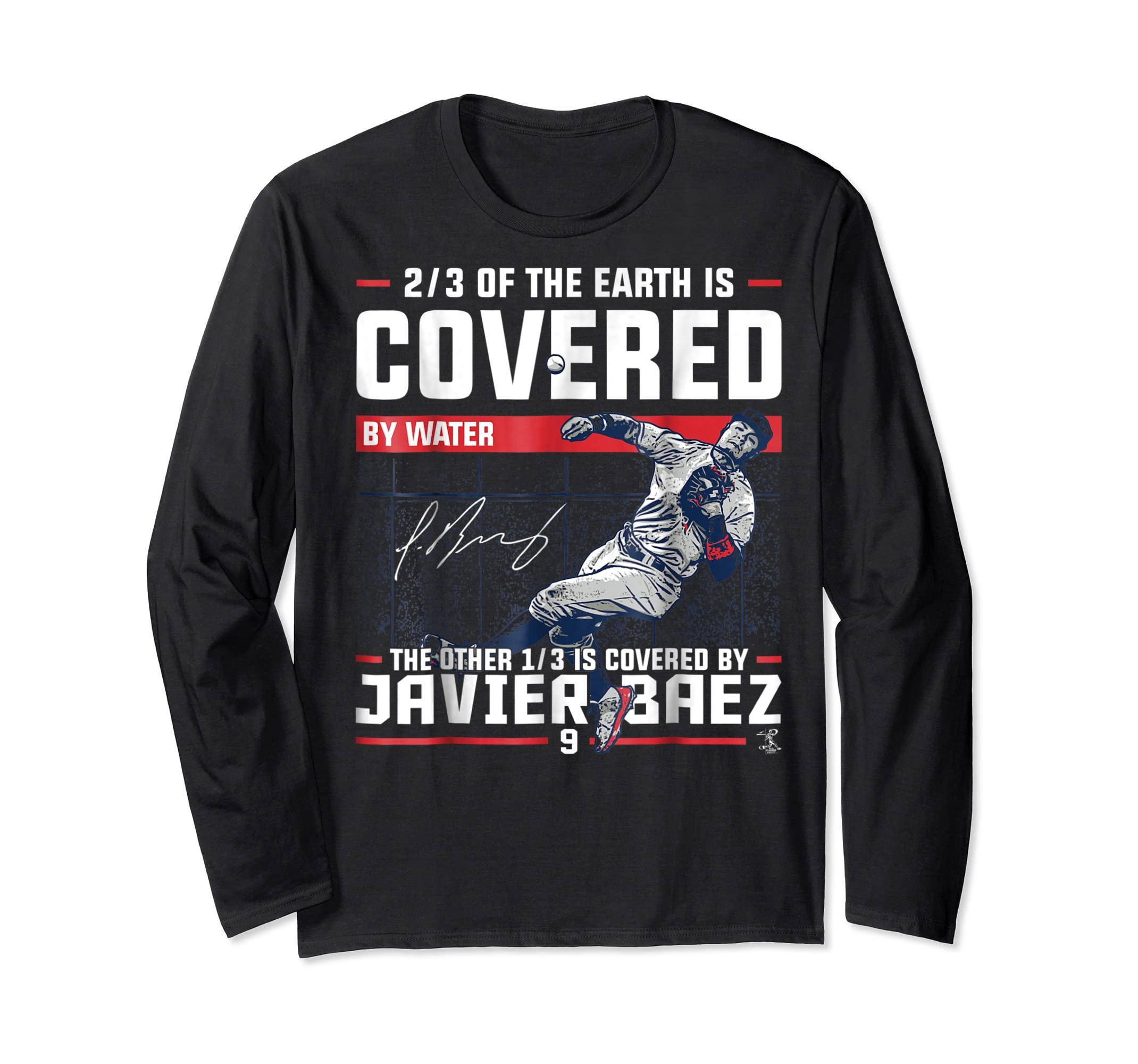Javier Baez Covered By T-Shirt - Apparel-Long Sleeve-Black