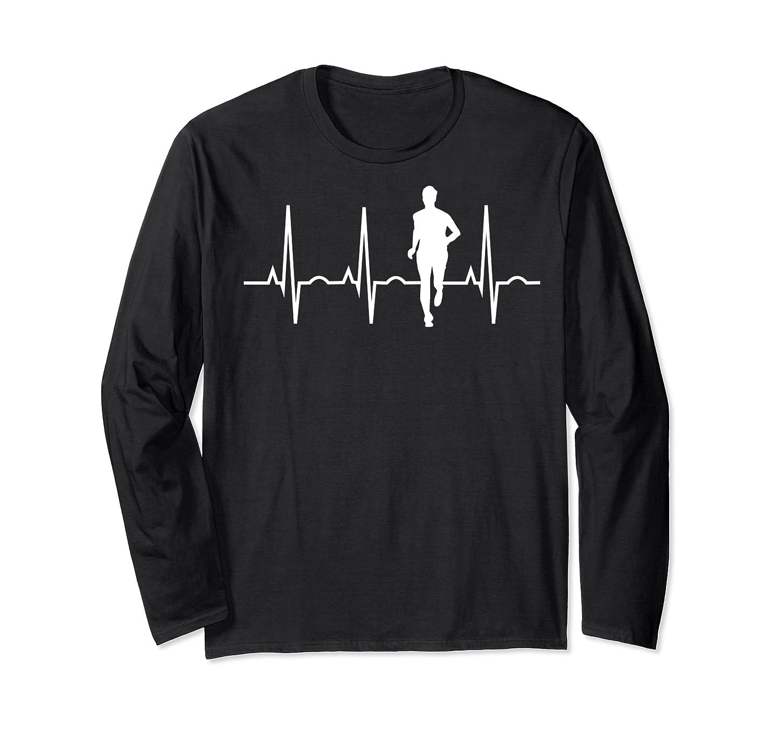 Cross Country Running Gifts Runner Heartbeat Ns Boy Shirts Long Sleeve T-shirt