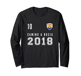 3aa5b130e91 Image Unavailable. Image not available for. Color: Colombia, Soccer, Rusia  2018 shirt - Camiseta Futbol tee. Roll over image to ...