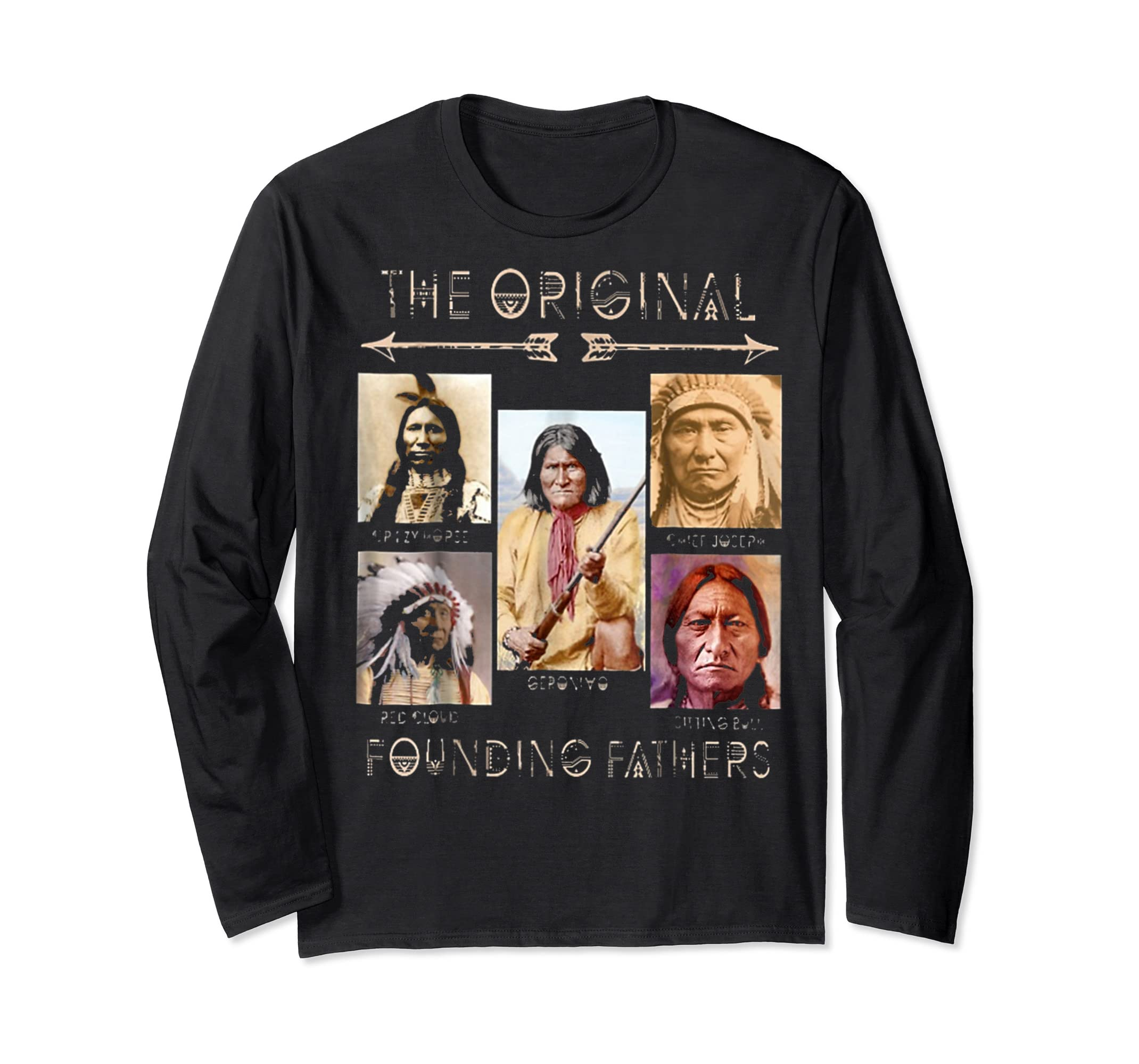 the original founding fathers native classic shirt-Long Sleeve-Black