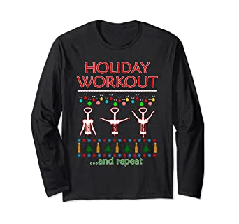 0325c2dbffa5 Amazon.com  Holiday Workout Drink and Repeat Wine Lovers Christmas ...