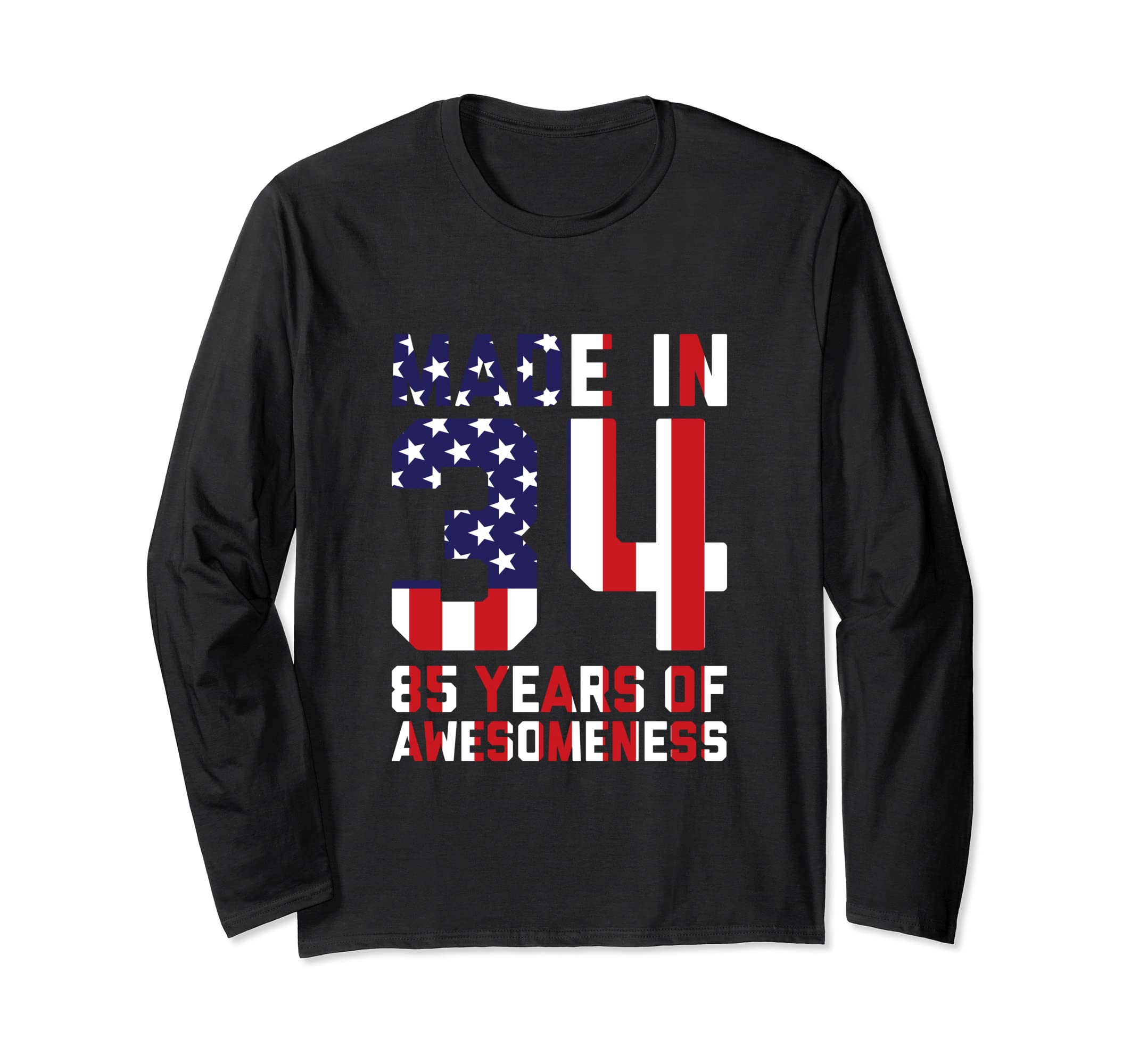 Amazon 85th Birthday Long Sleeve Gifts Men Age 85 Year Old Grandpa Clothing